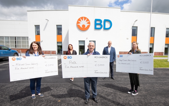 BD Research Centre Ireland Cheque Donations
